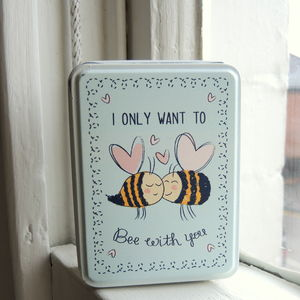 I Only Want To Bee With You Trinket Tin - storage & organisers