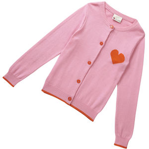 Pink Knit Sweetheart Cardigan