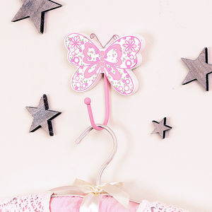Children's Vintage Butterfly Wall Hook - baby's room