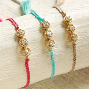 Delicate Diamante Friendship Bracelet - children's accessories
