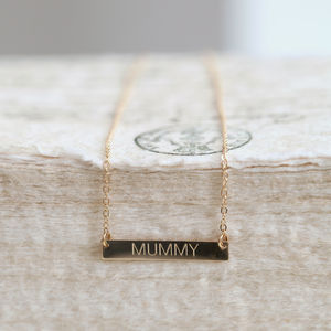 Personalised Gold Bar Necklace - gifts under £50 for her