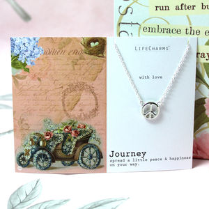 'Journey' Charm Necklace - leaving gifts