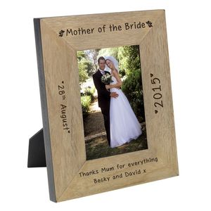 Mother Of The Bride Personalised Wooden Wedding Frame