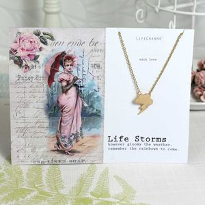 'Life Storms' Gold Charm Necklace