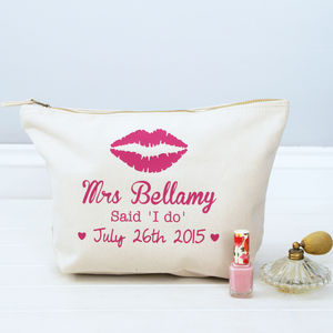 Personalised 'Mrs …' Toiletry Bag - wedding fashion