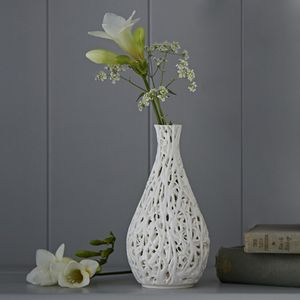Tangled Web Ceramic Bud Vessel