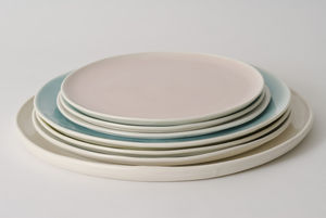 Handmade Porcelain Plate - spring table