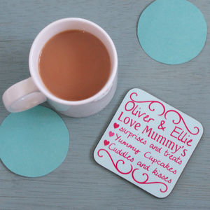 Personalised 'You're The Best' Coaster - gifts from younger children