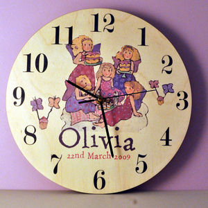 Personalised Fairies Clock - clocks