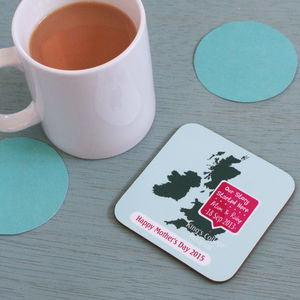 Personalised 'Where Our Story Started' Coaster - placemats & coasters