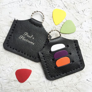 Personalised Plectrum Holder Keyring - gifts by category