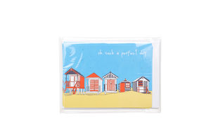 Beach Hut Postcard Pack