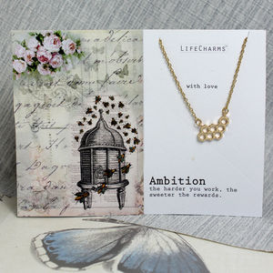 'Ambition' Honeycomb Necklace - women's jewellery