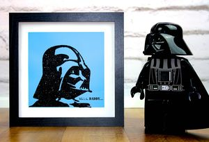 Personalised 'Who's The Daddy' Framed Art Work - posters & prints