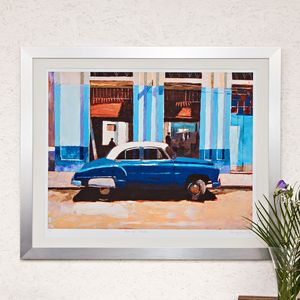 Blue Cafe, Havana Print - posters & prints