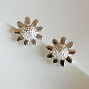 Sterling Silver Sunflower Stud Earrings - children's accessories