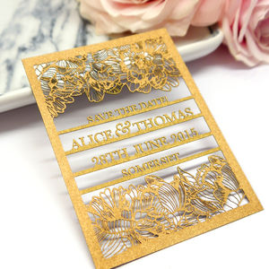 Personalised Laser Cut Save The Date Card
