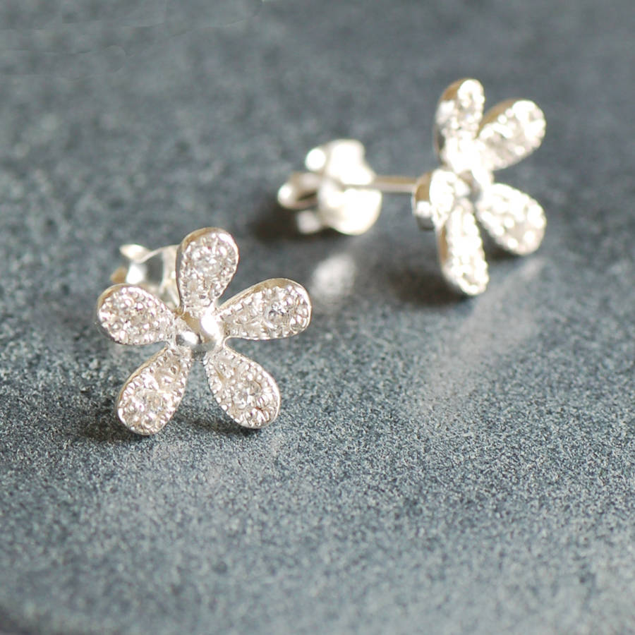 d6dae0232 sterling silver daisy earrings by highland angel ...