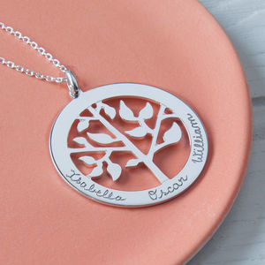 Mother's Personalised 'Tree Of Life' Necklace - charms