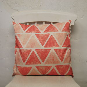 Small Square Farm Pyramid Cushion - cushions
