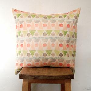 Large Square Summer Fair Pink Cushion