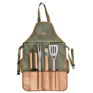 Bbq Apron And Tool Set