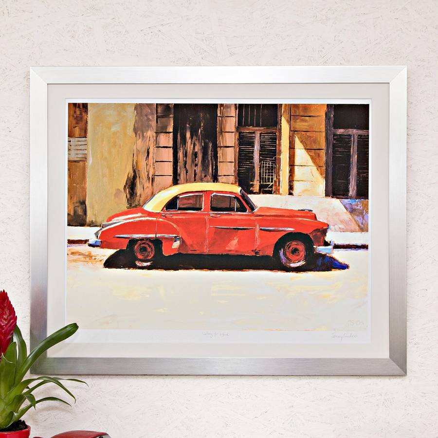 Red Ship Of Gold, Cuba Print