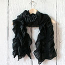 Sale 30% Off Cotton And Knit Ruffle Scarf