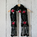 Crochet Flower Knit Scarf