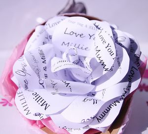 'Love You Mummy' Paper Rose