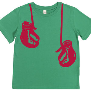 Child's Hanging Boxing Gloves T Shirt - clothing