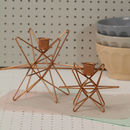 Copper Star Shaped Candle Holder