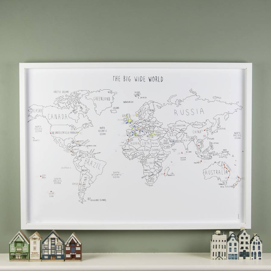 Personalized World Travel Map – Personalized Travel Maps