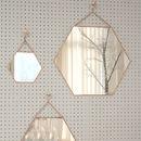 Small Hexagon Shaped Copper Mirror