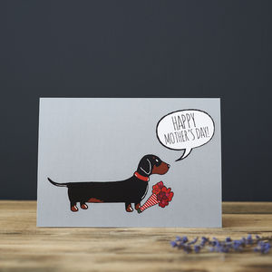 Dachshund / Sausage Dog Mother's Day Card - gifts from pets