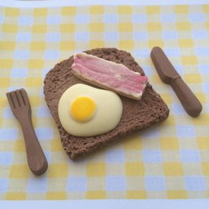 Chocolate Egg And Bacon On Toast - gifts for him