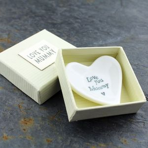 Porcelain 'Love You Mummy' Tiny Dish - bedroom