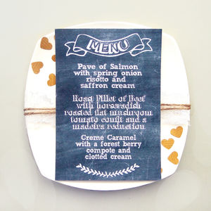 Chalkboard Style Wedding Breakfast Menu