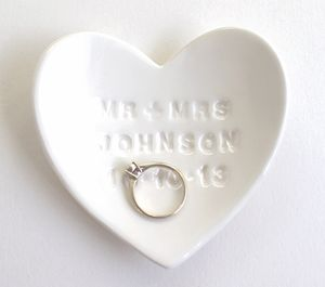 Personalised Ceramic Ring Dish - jewellery storage & trinket boxes