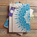 Hand Printed Double Sided Winter Sun Notebook