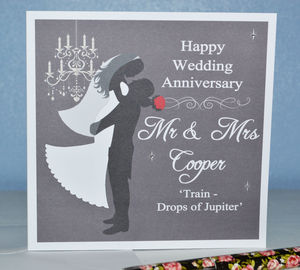 Personalised Wedding Anniversary Card - anniversary cards