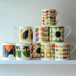 Orla Kiely Retro Design China Mug