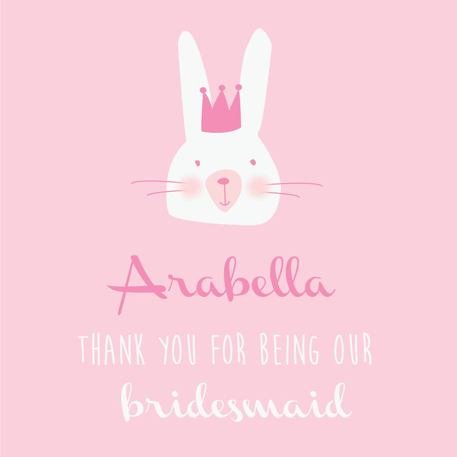 how to thank a bride for being a bridesmaid