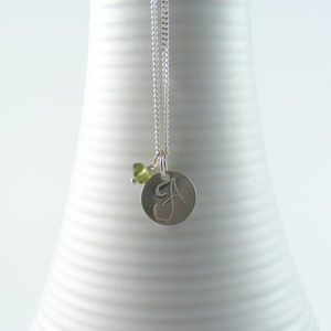 Personalised Silver Initial Birthstone Necklace - whats new