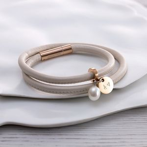 Leather And Rose Gold Wrap Bracelet - shop by occasion