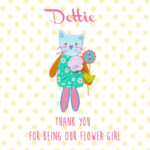 Flower Girl Thank You Greeting Card - wedding thank you gifts