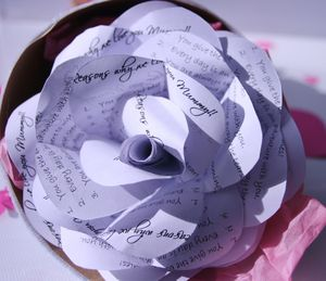 Personalised Mother's Day Paper Wrapped Rose