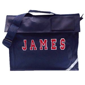 Personalised School Book Bag Navy