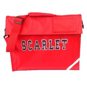 Personalised School Music Book Bag Red - shop by price