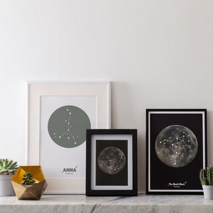 Personalised Star Sign Zodiac Constellation Print - posters & prints